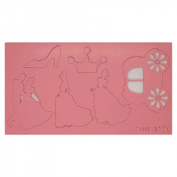 Cinderella Theme Acrylic DIY Stamp