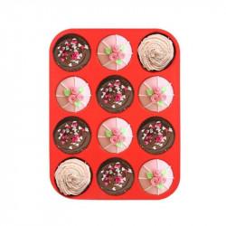 12 Cavity Silicone Muffin / Cupcake Mould