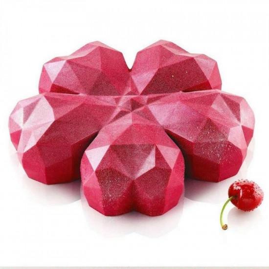 3D Diamond Heart Mousse Cake Mould