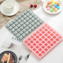 48 Grid Alphabets Numbers Silicone Chocolate Mould