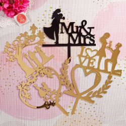 Anniversary and Love Acrylic Cake Toppers Combo 4 (Set of 5)