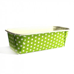 Green White Polka Dots Bake And Serve Plumpy Cake Mould