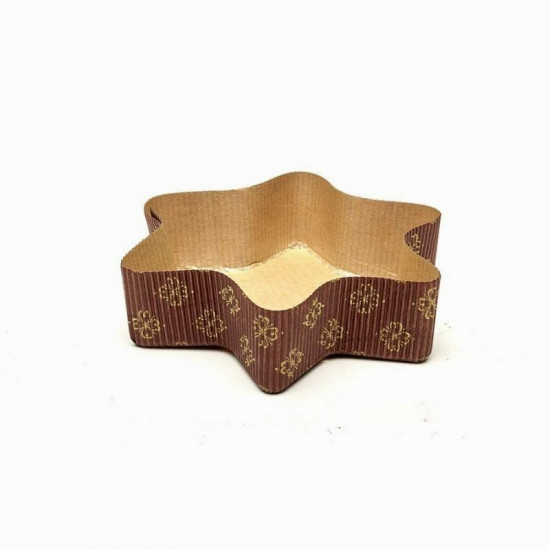 Brown & Gold Star Shape Bake And Serve Cake Mould