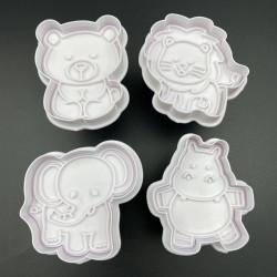 Bear, Elephant, Hippo, Lion Plunger Cutter