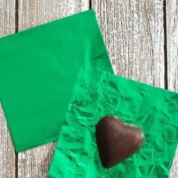 Green Chocolate Foil Wrapper - Big (26 x 18 cm)