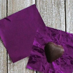 Purple Chocolate Foil Wrapper - Big (26 x 18 cm)