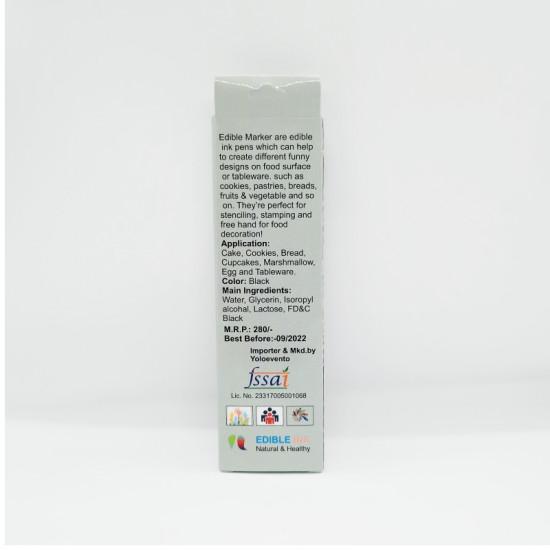 Black Edible Marker Double Tip - Kopybake