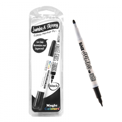 Black Edible Marker Jumbo & Skinny - Magic Colours