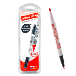 Red Edible Marker Jumbo & Skinny - Magic Colours