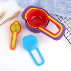 Measuring Cups & Spoons Multi Colour- Set of 6 Pcs.
