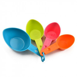 Measuring Cups Multi Colour - Set of 4 Pcs.