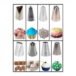 Cake Decorating Mix Nozzles (Set of 8)