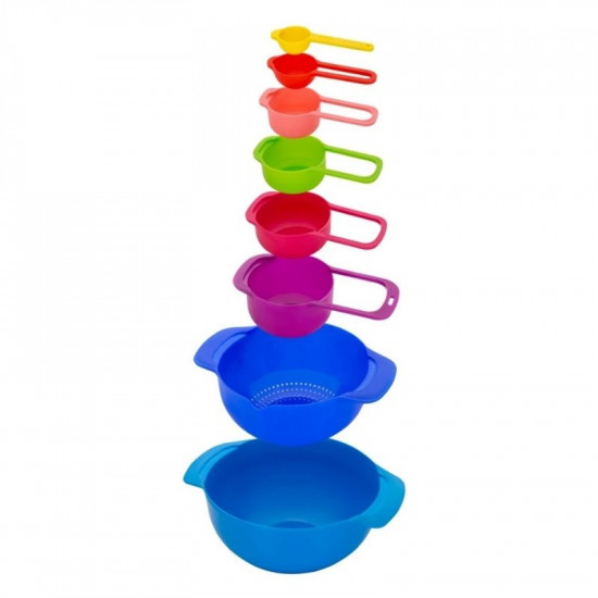 Nesting Bowls With Measuring Cups Set (8 Pcs)