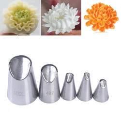 Nozzle Chrysanthemum Flower Tips Set of 5 Pcs