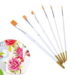 Paint Brush Set of 6 White