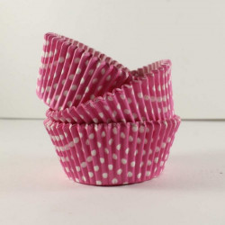 Pink White Polka Dots Paper Muffin Liner