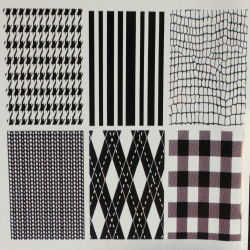 Set of 6 Designs (Style A) Plastic Impression Mat