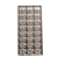 Crown Shape Polycarbonate Chocolate Mould