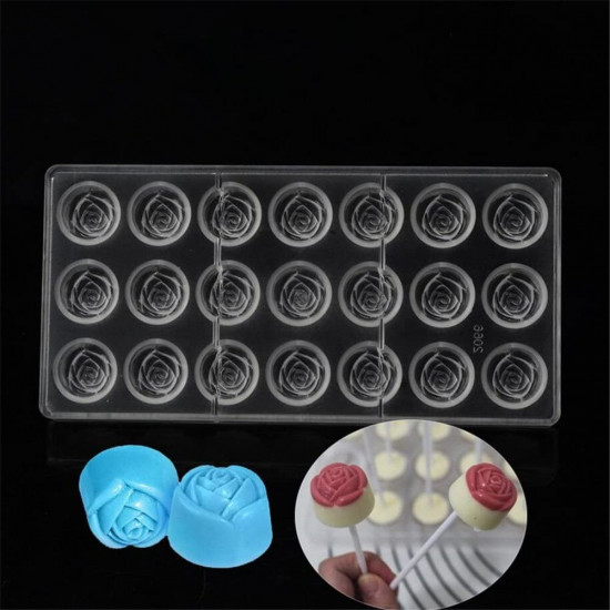 Rose Flower Shape Polycarbonate Chocolate Mould