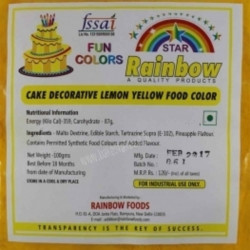 Lemon Yellow Powder Colour - Rainbow