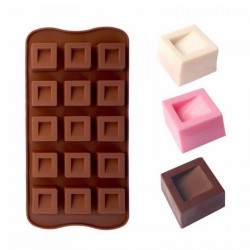 Dimpled Square Shape Silicone Chocolate Mould
