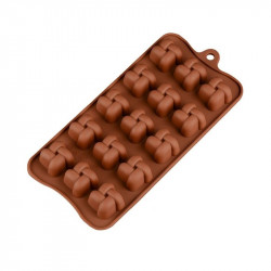 Criss Cross Braided Square Silicone Chocolate Mould