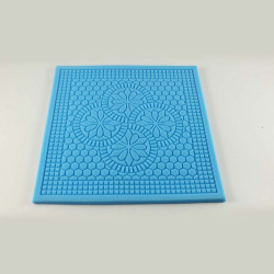 Flower Square Shaped Silicone Impression Mat