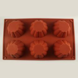 Flower Design Silicone Muffin Mould