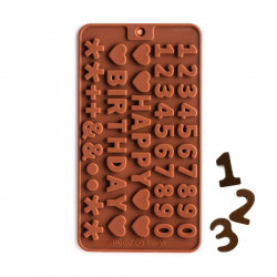 Numbers & Happy Birthday Letters Silicone Chocolate Mould