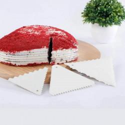 Cake Comb/Scraper Triangular Shape Set of 3
