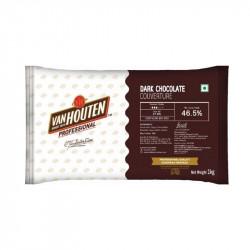 Van Houten Dark Chocolate Couverture (46.5% Cocoa) - 1 Kg