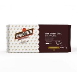 Van Houten Semi Sweet Compound - Dark 1 Kg