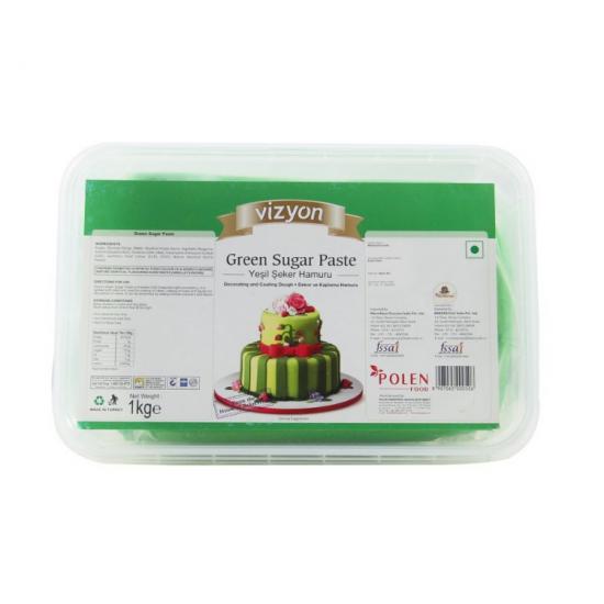 Green Sugar Paste (1 Kg) - Vizyon