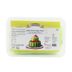Light Green Sugar Paste (1 Kg) - Vizyon
