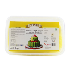 Yellow Sugar Paste (1 Kg) - Vizyon