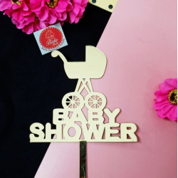 Baby Shower Acrylic Cake Topper