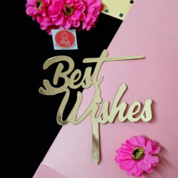 Best Wishes Acrylic Cake Topper