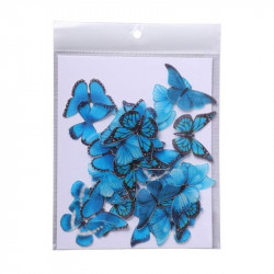 Blue Butterfly Edible Wafer Cake Toppers - Tastycrafts