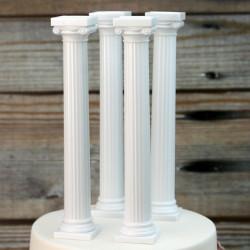 Pack of 4 Grecian Cake Pillars (7 in. high)