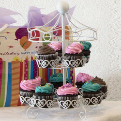 2 Layer Cupcake Stand Carousel - 12 Holders