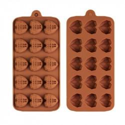 Diamond Heart Shape (15 Cavity) Silicone Chocolate Mould