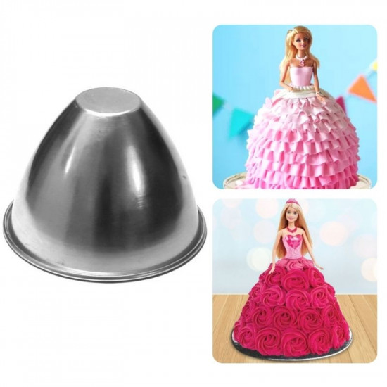 "Doll Aluminium Cake Mould (Dia 8"")"
