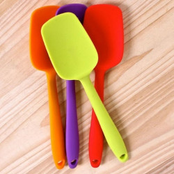 Full Silicone Spatula Spoon - 1 Piece (21.5 Cm X 4.7 Cm )
