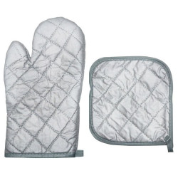 Grey Oven Gloves With Pad