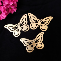 Acrylic Gold Butterflies For Cake Decoration (Set of 10)