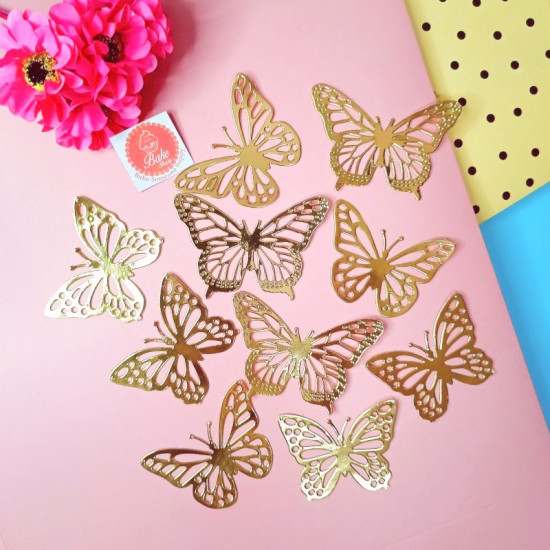 Golden Butterflies (10 Pieces)