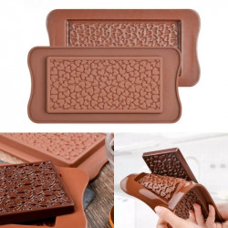 Mini Heart Beans Chocolate Bar Silicone Mould