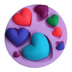 Hearts 8 Cavity Fondant Mould