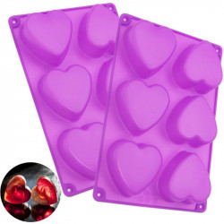 Heart Shape 6 Cavity Silicone Mould