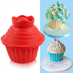 Jumbo Cupcake Shape Silicone Cake Mould
